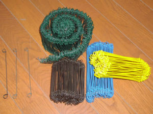 Green and Blue PVC Coated Binding Tie Wire pictures & photos