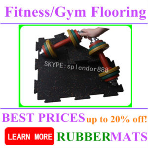 Fireproof Gym Weight Lifting Rubber Flooring and Mats pictures & photos