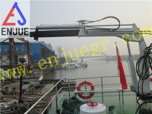 1t Hydraulic Small Size Davit Crane Fishing Crane with Telescopic Boom pictures & photos