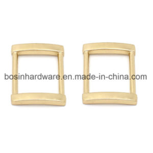 Gold Metal Rectangle Buckle Ring Leather Belt pictures & photos