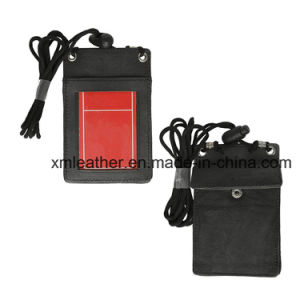 Genuine Leather Slim Super Card Holder with ID Card Window pictures & photos