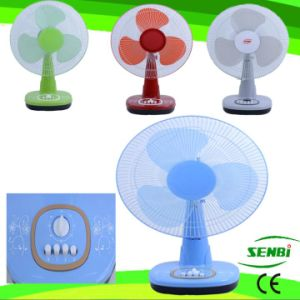 16 Inches DC 12V DC Fan Colorful Table Fan Desk Fan (SB-T-DC40O)