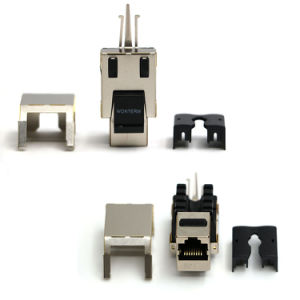 Network Shielded RJ45 Keystone Module CAT6 Keystone Jack Connector pictures & photos