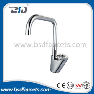 Single Handle Brass Basin Mixer Chromed Finish Bathroom Basin Faucet pictures & photos
