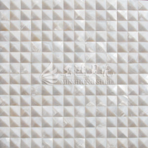 Freshwater Shell Pure White Arch Face 20*20mm Bevel Edge Mosaic Tile pictures & photos