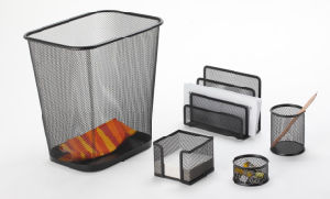 Desk Sets and Accessories/ Metal Mesh Stationery Office Set/ Office Desk Accessories pictures & photos
