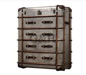 Metal Aluminum Cover Side Antique Cabinet with Drawers pictures & photos