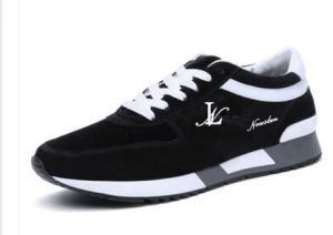 Flexible Mesh and Leather Sports Sneaker (SP-020) pictures & photos