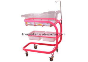 Hospital Baby Bed with IV Pole pictures & photos