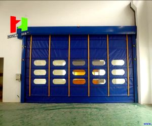 Electric Industrial Warehouse Fold up High Speed Stacking Interior Sliding Door (Hz-FC0540) pictures & photos