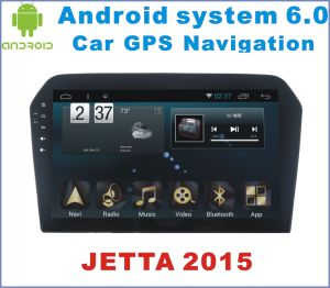 Android System 6.0 Car GPS Navigation for Jetta 2015 with Car Stereo