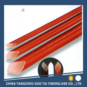 Electric Insulation Fiberglass Sleeving with Silicone Resin pictures & photos