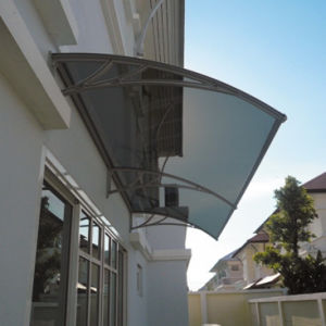 DIY Manual Clear Transparent Plastic Polycarbonate Awning pictures & photos