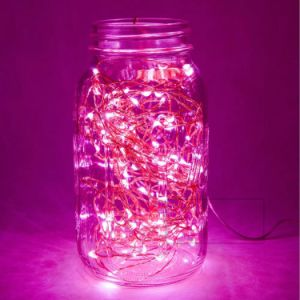4.5 V 3 AA Battery Operated Pink Color LED Dew Drop Firefly Fairy Starry Flashing Light String for Bedroom Decoration pictures & photos