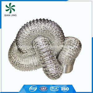 Non-Insulated Double Layer Aluminum Flexible Duct for HVAC Systems pictures & photos