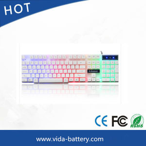 Mini PC USB Wired Computer Keyboard LED Mechanical Computer Backlit Waterproof Keyboard pictures & photos