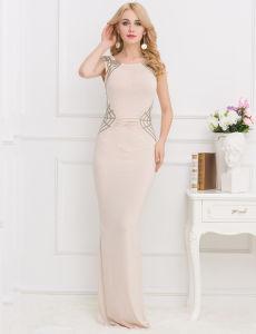 Top Super 2017 Wholesale White New Arrivals Sequined Long Cutout Prom Dresses pictures & photos