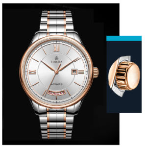 Luxury Business Watch Men′s Double Calendar Watch with Stainless Steel Band 72656 pictures & photos
