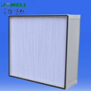 Extruded Aluminium 0.3um HS Deep Pleat HEPA Filter pictures & photos