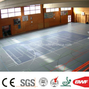 4.5mm Lichi Ce Certificated PVC Flooring for Multifunction Gym Sports Court pictures & photos