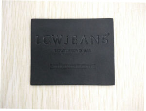 Top Quality Genunie Leather Patch with Logo Printed pictures & photos