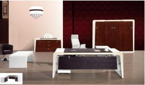 White Lacqure High Glossy Executive Table Wooden Office Furniture (HX-RD6511) pictures & photos