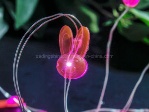 Rabbit 20 Warm White Colorful Micro 0603 SMD LED String Lights Battery Operated on 6.6 Feet Silver Wire pictures & photos