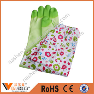 Long Sleeve Latex Cleaning Gloves for Kitchen Use pictures & photos