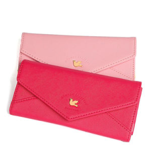 Colorful Flying Bird Metal Bar Envelope Flap Women Wallets