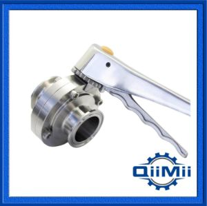 Stainless Steel 304 316L, Sanitary Tri-Clamp Butterfly Valve Manual/ Pneumatic Operated for Food Grade pictures & photos