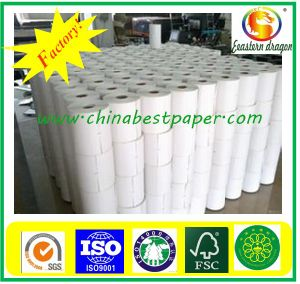 Virgin wood pulp, cardboard/plastic core POS thermal paper roll 76mm*60mm pictures & photos