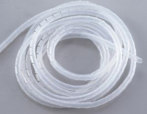 PE Polyethylene Spiral Cable Wire Wrap Tube White/ Wire Wrap Band pictures & photos