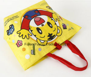 PP Fabric Handle Bag with Customized Printing (YYNWB066) pictures & photos