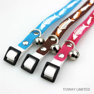 Quality PVC Pet Collar Silicon Fish Cat Collars with Bell pictures & photos