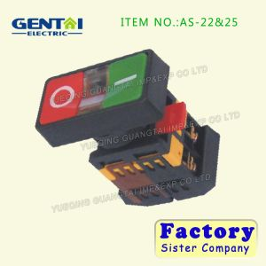 One Green and One Red Push Button Switch pictures & photos