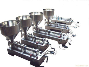Semi-Automatic Double Heads Water/Juice/Oil and Others Liquids Filling Machine pictures & photos