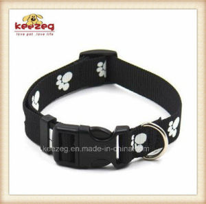 Quality Nylon Material Printing Paws Pet Collars/Luminous Dog Collar Leashes Harness (KC0114) pictures & photos