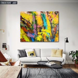 Yellow Abstract Art Painting for Home pictures & photos