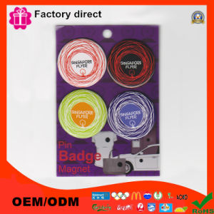 Custom Printed Round Pin Button Badge with Safety Pin pictures & photos