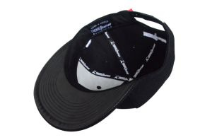 Custom Black 6 Panels Cotton Twill Flat Brim Snapback Cap pictures & photos