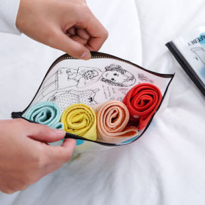 OEM Custom Print Portable Beauty PVC Zipper Bag with Custom Size pictures & photos
