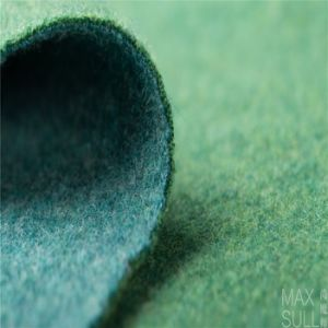 100% Double Sides Cashmere Fabrics for Winter Season in Green