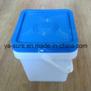 Hot Sale Food Grade Square Plastic Pail for Ice Cream 5L