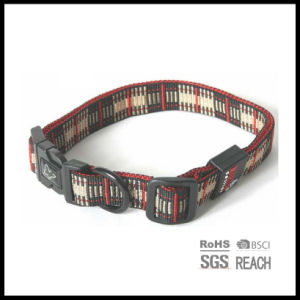 Grid Pattern Classic Woven Embroidered Pet Dog Puppy Cat Collar pictures & photos