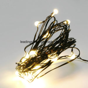 20 LEDs Christmas Lights Flexible Black Wire Light 2032 Battery Decorative Lighting for Bedroom pictures & photos