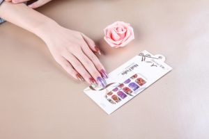 Beauty Colorful Temporary Water Transfer Nail Sticker Art Nail Sticker