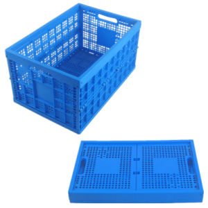 Collapsible Mesh Fruit and Vegetable Used Crates Plastic for Sale pictures & photos
