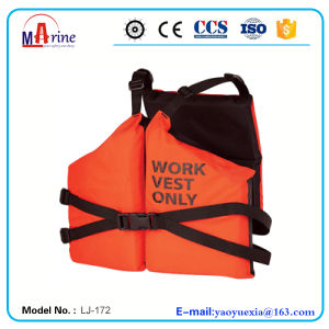 Orange Color 3 Panels Nylon Work Vest pictures & photos