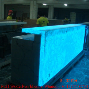 Onyx Marble Restaurant Bar Top for Sale Checkout Counter Cashier Counter for Restaurant pictures & photos