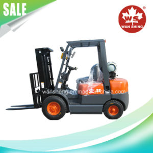 3500kg Gaoline/ LPG Forklift with Nissan K25 Engine pictures & photos